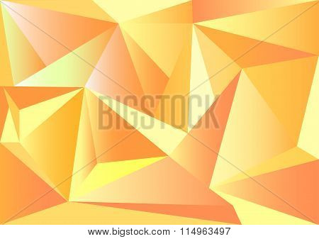 Low poly style vector, Yellow and orange low poly design, low poly style illustration, Abstract low