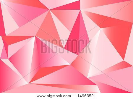 Low poly style vector, Red and pink low poly design, low poly style illustration, Abstract low poly