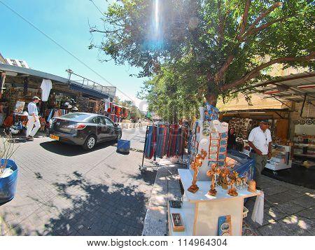 Street Scene Of The City Of Nazareth