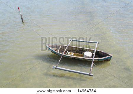 Traditional Fisherman Boat At Kg Nagalang Labuan FT, Malaysia
