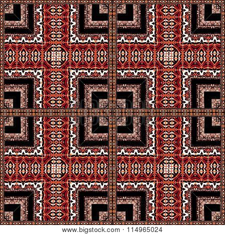 Decorative Geometric Ornate Abstract Pattern
