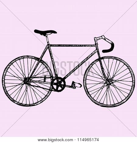 sport bicycle, race road bike