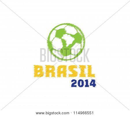 Vector Illustration Brasil 2014