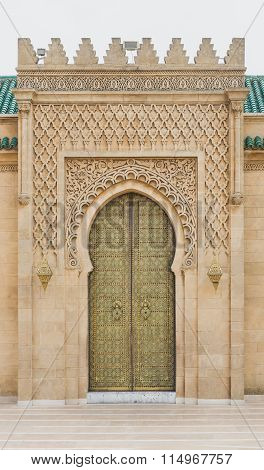 The Gate Of Mausoleum Of Mohammed V In Rabat