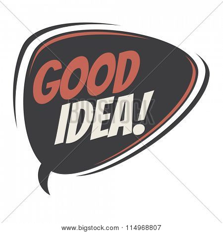 good idea retro speech balloon