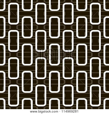 Seamless Pattern Of Rectangles With Rounded Corners