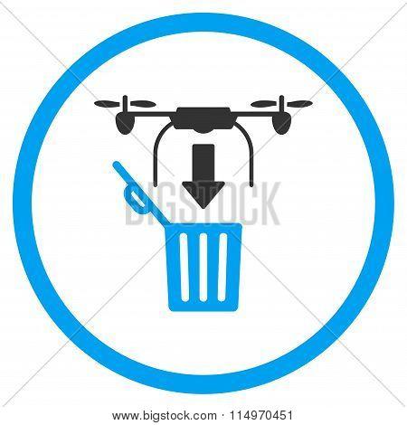 Air Drone Drop Trash Icon