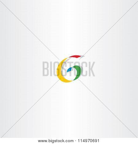Colorful Letter G Spiral Sign Logo
