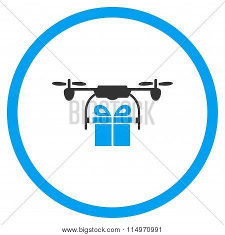 Gift Air Drone Shipment Icon