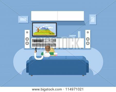 Interior home cinema