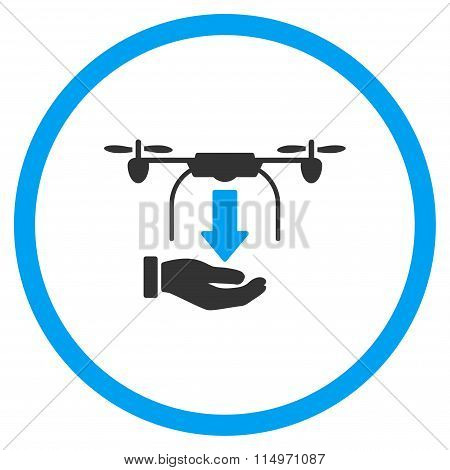 Hand Unload Air Drone Icon