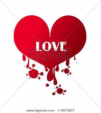 Love Heart Bleeding