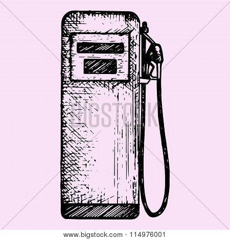 gasoline pump, petrol gas station