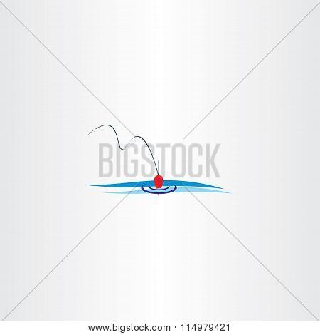 River Fishing Bobber Logo Vector