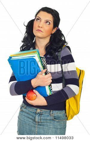 Thoughtful Student Woman