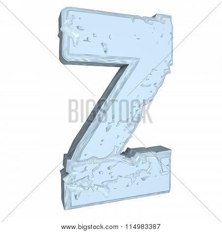 Letter Z In Cement