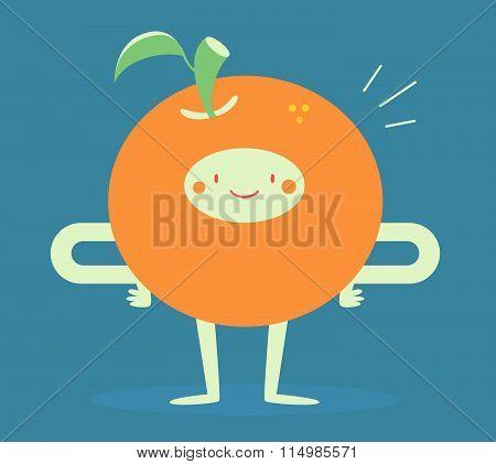 Happy Orange Smiling