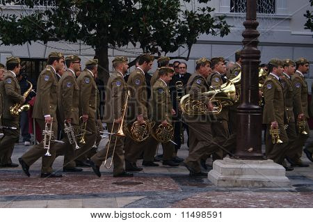 Military band marching 211