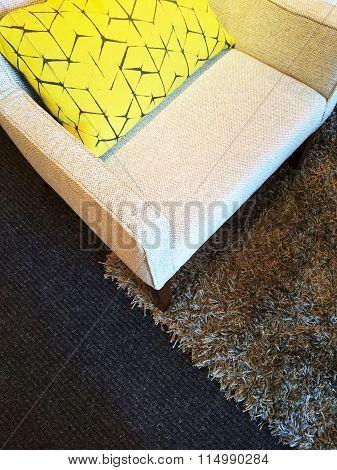 Armchair On A Fluffy Carpet