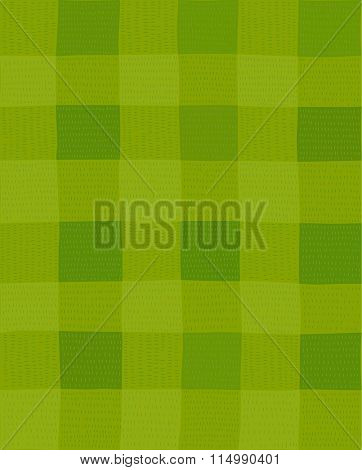 The hand drawn vector illustrated football field seamless pattern