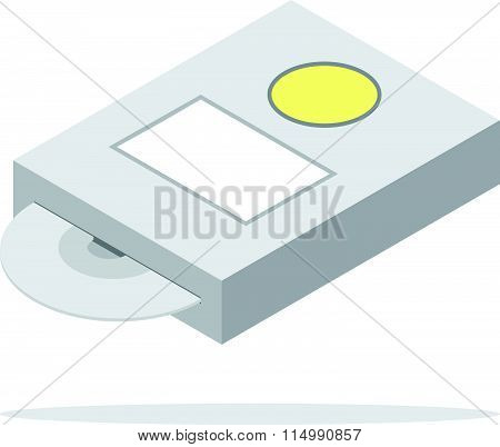 cd dvd rom drive icon isometric