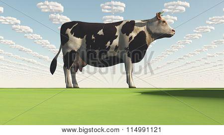 Big Business Profit GMO Cow