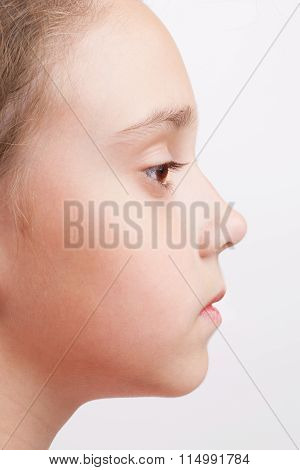 Profile Of A Child With Open Eye