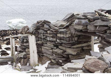 Historic Stone Hut, Paulet Island, Antarctica