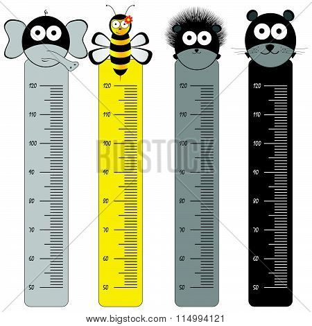Children Meter Wall Illustration With Animal