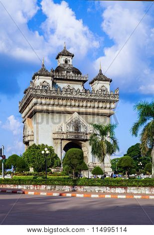 Patuxai, A Memorial Gate In Centre Of Vientiane, Laos