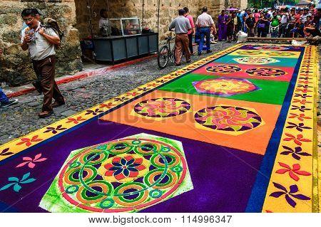 Colorful Holy Week Carpet, Antigua, Guatemala