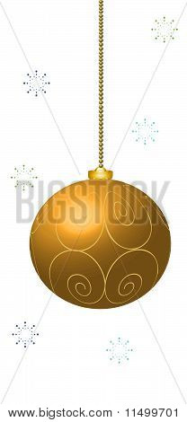 New year golden decoration