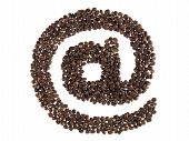 Symbol At Made With A Coffee Beans