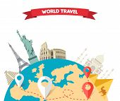 Постер, плакат: World Adventure Travel