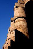foto of skarabaeus  - ancient karnak temple in luxor in egypt - JPG