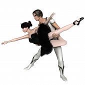 Постер, плакат: Black Swan Pas De Deux from Swan Lake