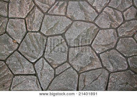 Natural Rock Paving Tiles Texture