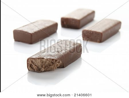Choc ices on white