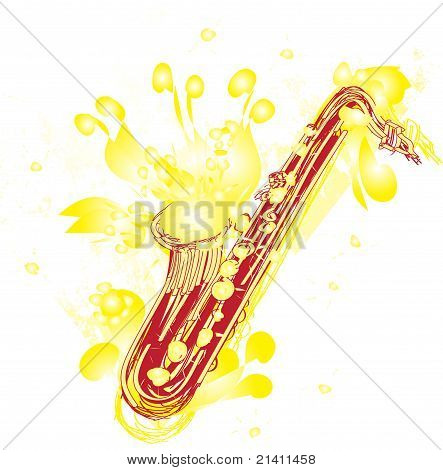Abstract Sketchy Sax