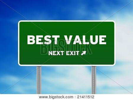 Melhor sinal de estrada de valor