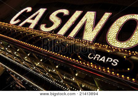 Casino and Craps signs