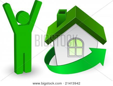 person icon and house icon