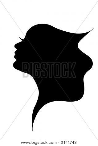 Shadow Abbildung der Frau