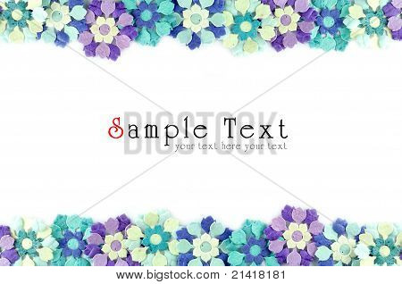 Artificial Flowers Mulberry Paper Frame