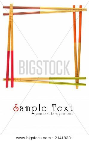 Decorative Frame Of Bamboo Chopsticks