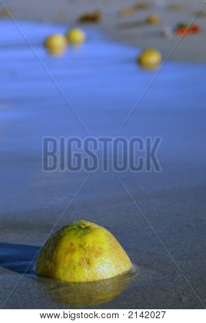 Lemon On The Beach