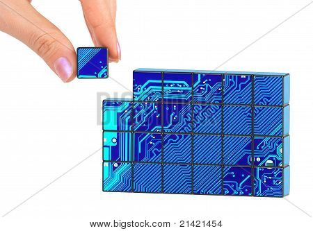 Hand And Technology Puzzle