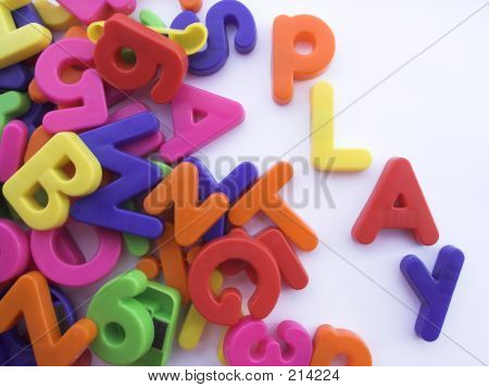 Colored Alphabet Letters