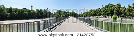 Isar river in Munich, Germany,