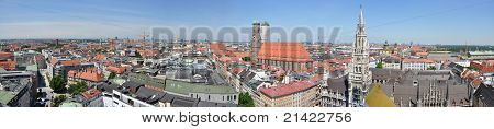 panoramic skyline of Munich, Germany